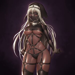 Rating: Questionable Score: 68 Tags: bondage no_bra nun pantsu stockings thighhighs underboob vana User: Mr_GT