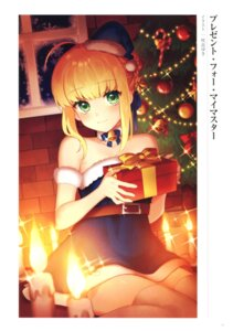 Rating: Questionable Score: 9 Tags: christmas dress fate/grand_order saber sakura_yuki thighhighs User: Radioactive