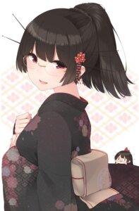 Rating: Safe Score: 35 Tags: chibi choukai_(kancolle) kantai_collection kimono megane yukichi_(sukiyaki39) User: Mr_GT