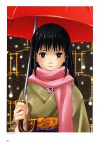 Rating: Safe Score: 7 Tags: happoubi_jin kimono umbrella User: MDGeist