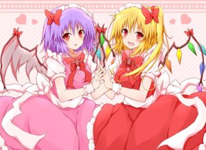 Rating: Safe Score: 12 Tags: flandre_scarlet karamone-ze remilia_scarlet touhou User: Radioactive