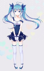 Rating: Safe Score: 88 Tags: hatsune_miku kobato_neneko stockings thighhighs vocaloid User: mula3