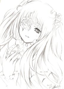 Rating: Safe Score: 12 Tags: kirakishou monochrome rozen_maiden sketch User: charunetra