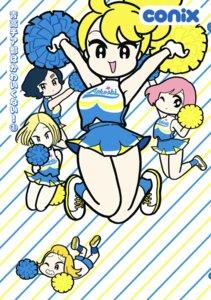 Rating: Safe Score: 4 Tags: cheerleader chibi conix skirt_lift User: blooregardo