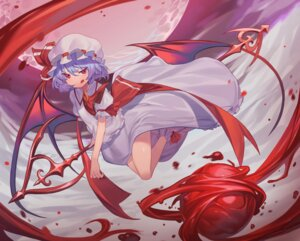 Rating: Safe Score: 18 Tags: dress remilia_scarlet skirt_lift ssangbong-llama touhou weapon wings User: Nico-NicoO.M.