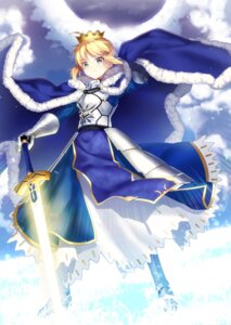 Rating: Safe Score: 25 Tags: armor dress fate/grand_order fate/stay_night ichiren_namiro saber sword User: Mr_GT