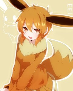 Rating: Safe Score: 36 Tags: animal_ears anthropomorphization eevee pokemon tail takeshima_(nia) User: charunetra