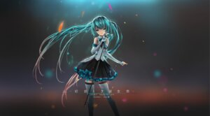 Rating: Safe Score: 25 Tags: hatsune_miku tagme thighhighs vocaloid User: saemonnokami