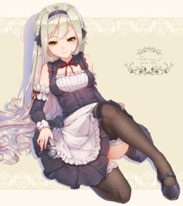 Rating: Safe Score: 93 Tags: hoko_sakuran maid thighhighs User: blooregardo