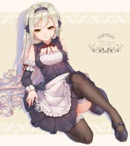 Rating: Safe Score: 92 Tags: hoko_sakuran maid thighhighs User: blooregardo