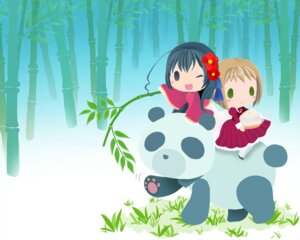 Rating: Safe Score: 4 Tags: chibi hetalia_axis_powers houjouin_sakura liechtenstein taiwan wallpaper User: Radioactive