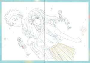 Rating: Safe Score: 8 Tags: crease fixme koe_no_katachi line_art raw_scan seifuku User: yswysc