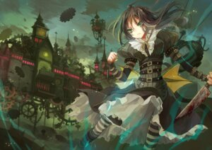 Rating: Safe Score: 30 Tags: alice alice:_madness_returns ane_niku blood dress landscape pantyhose weapon User: Zenex