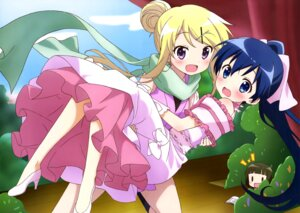 Rating: Safe Score: 53 Tags: chibi dress heels kin'iro_mosaic komichi_aya kujou_karen oomiya_shinobu User: drop