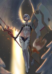 Rating: Questionable Score: 67 Tags: ayanami_rei bandages cleavage erect_nipples eyepatch leotard neon_genesis_evangelion tagme thighhighs weapon wings User: Radioactive
