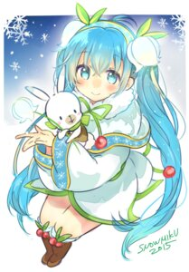Rating: Safe Score: 31 Tags: dress hatsune_miku kakizato_shinano vocaloid yuki_miku User: charunetra