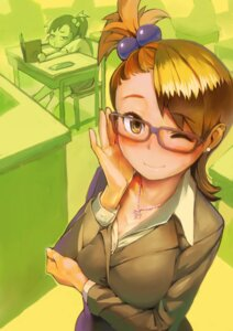 Rating: Safe Score: 40 Tags: business_suit futami_ami futami_mami kousaku megane the_idolm@ster User: Radioactive