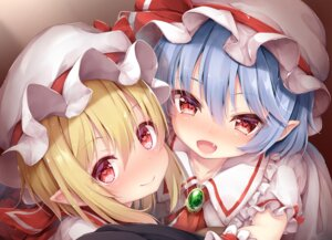 Rating: Safe Score: 15 Tags: dress flandre_scarlet pointy_ears remilia_scarlet sorairo_len touhou User: charunetra