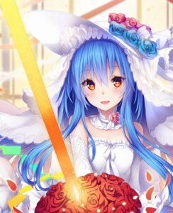 Rating: Safe Score: 58 Tags: dress hinanawi_tenshi sword touhou tyaba_neko wedding_dress User: charunetra