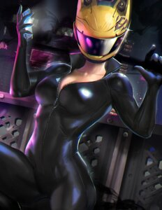 Rating: Safe Score: 78 Tags: bodysuit celty_sturluson cleavage durarara!! open_shirt sakimichan User: charunetra