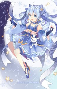 Rating: Safe Score: 47 Tags: dress garter hatsune_miku raria vocaloid yuki_miku User: Mr_GT