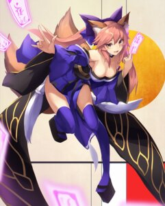 Rating: Safe Score: 25 Tags: animal_ears caster_(fate/extra) cleavage eruthika fate/extra fate/grand_order fate/stay_night japanese_clothes kitsune tail thighhighs User: JediJaina