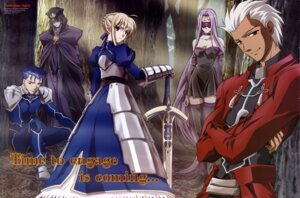 Rating: Safe Score: 10 Tags: archer caster fate/stay_night lancer rider saber yanagisawa_tetsuya User: jxh2154