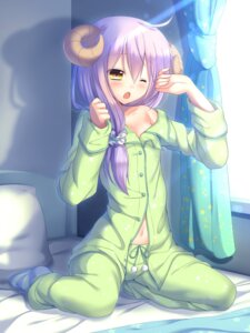 Rating: Safe Score: 4 Tags: cleavage horns muraji0419 open_shirt pajama User: Mr_GT