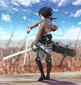 Rating: Safe Score: 41 Tags: mikasa_ackerman ninnzinn shingeki_no_kyojin sword uniform weapon User: zero|fade