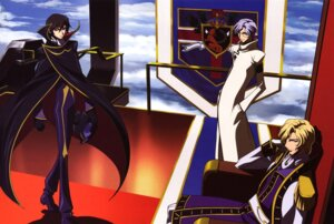 Rating: Safe Score: 9 Tags: code_geass lelouch_lamperouge lloyd_asplund male sakamoto_shuuji schneizel_el_britannia User: ashlay