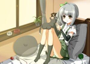 Rating: Safe Score: 25 Tags: eiyuu kantai_collection kasumi_(kancolle) neko pantsu shimapan User: Mr_GT