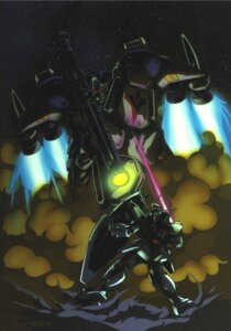 Rating: Safe Score: 7 Tags: gp01 gp02a gundam gundam_0083 kawamori_shouji mecha User: Radioactive
