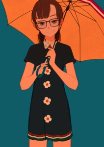 Rating: Safe Score: 21 Tags: dress hieda_yawe megane umbrella User: Debbie