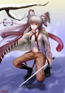 Rating: Safe Score: 8 Tags: fujiwara_no_mokou recare signed sword touhou User: charunetra
