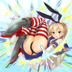 Rating: Questionable Score: 37 Tags: ass heels kantai_collection shimakaze_(kancolle) sin_(kami148) thighhighs thong User: Mr_GT