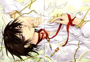 Rating: Safe Score: 11 Tags: clamp code_geass crease lelouch_lamperouge male watermark User: Lua