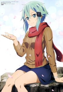 Rating: Safe Score: 89 Tags: aqua_inc. asada_shino sinon sweater sword_art_online sword_art_online_alicization User: drop