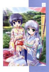 Rating: Safe Score: 16 Tags: bekkankou feena_fam_earthlight kimono mia_clementis yoake_mae_yori_ruriiro_na User: aoie_emesai