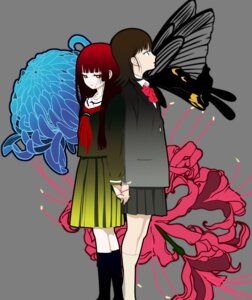 Rating: Safe Score: 14 Tags: enma_ai jigoku_shoujo mikage_yuzuki transparent_png vector_trace User: charunetra