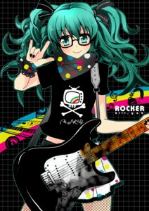 Rating: Safe Score: 10 Tags: guitar hatsune_miku killyoh megane vocaloid User: charunetra