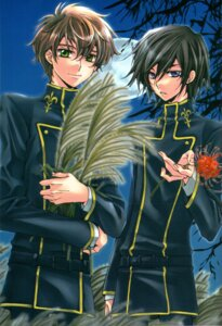 Rating: Safe Score: 6 Tags: code_geass kururugi_suzaku lelouch_lamperouge male screening User: aestalitz