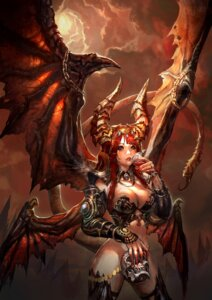 Rating: Questionable Score: 43 Tags: armor blood bottomless cleavage horns shaonav tail thighhighs wings User: Mr_GT
