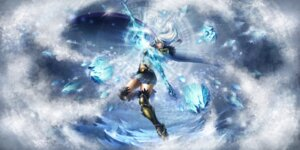 Rating: Safe Score: 10 Tags: armor ashe league_of_legends tagme thighhighs weapon User: Radioactive
