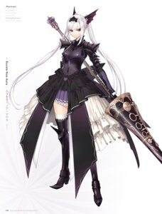 Rating: Questionable Score: 42 Tags: armor digital_version dress excela_noa_aura heels shining_resonance thighhighs tony_taka weapon User: Twinsenzw