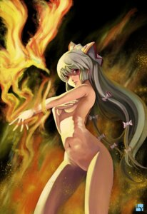 Rating: Questionable Score: 36 Tags: breast_hold fujiwara_no_mokou naked nanaya_(daaijianglin) touhou User: Mr_GT