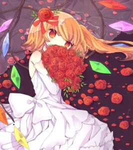 Rating: Safe Score: 26 Tags: dress flandre_scarlet touhou wedding_dress wings yuu_shin User: Mr_GT