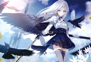 Rating: Questionable Score: 39 Tags: greennight sword thighhighs wings User: kiyoe