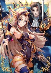 Rating: Safe Score: 7 Tags: afk_arena armor cleavage garter leotard sakiyamama sword thighhighs weapon User: Mr_GT