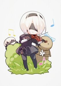 Rating: Safe Score: 21 Tags: chi-ya chibi cleavage dress mecha nier_automata thighhighs yorha_no.2_type_b yorha_no._9_type_s User: mash