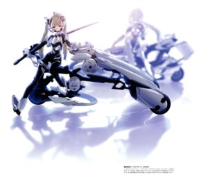 Rating: Safe Score: 26 Tags: bodysuit busou_shinki choco mecha_musume sword yda User: fireattack